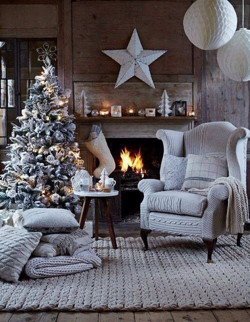 What we wouldn't give to put our feet up and drink a cup of Traidcraft coffee in this amazingly festive room!
