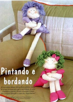 boneca, boneca pernuda, doll, feltro, molde, pano, pernuda, tecido, tutorial