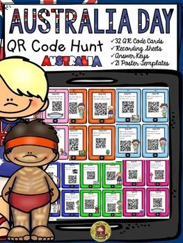 Australia Day QR Code Hunt will take your students on a hunt for interesting facts on why and how Australia Day is celebrated in Australia. https://www.teacherspayteachers.com/Product/AUSTRALIA-DAY-QR-CODE-HUNT-2308619
