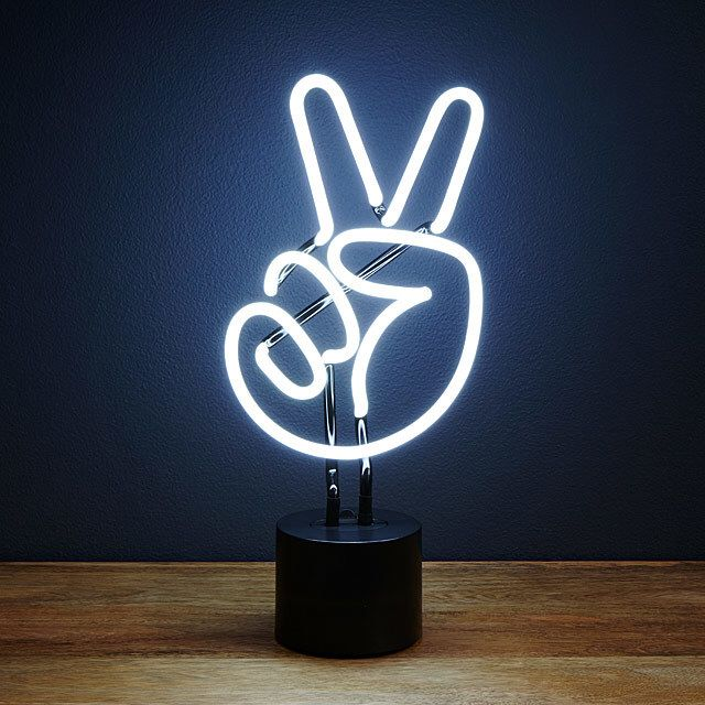 Neon Peace Sign for all my hippies out there #peace #peacesign #neon #giftideas #affiliate