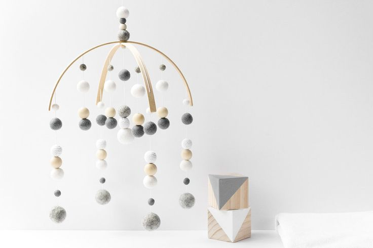 Noah - Baby Mobile | White and Grey Nursery Mobile