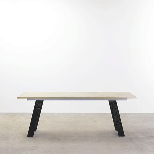 TAIT x DANIEL EMMA Pick 'n' Mix Table & Bench Details Manufactured by TAIT in Thornsbury, Victoria Suitable for indoors and outdoors. Dimensions 2100 x 900 x 730H Materials Top – 25mm Cement, Polished Base – Steel, Powdercoated