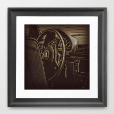 Driver Console Framed Art Print by AngelEowyn - $34.00