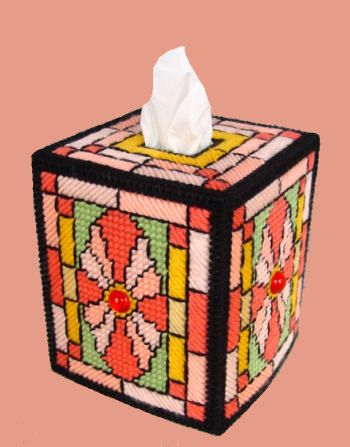 Awesome Boutique Size Tissue Box Cover STAINED by NiftyStitches4U