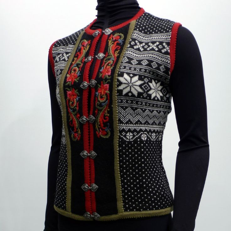 Vrikke Setesdal Vest, Norwegian Style Sweater Vest