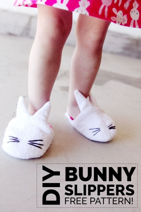 how to make bunny slippers tutorial