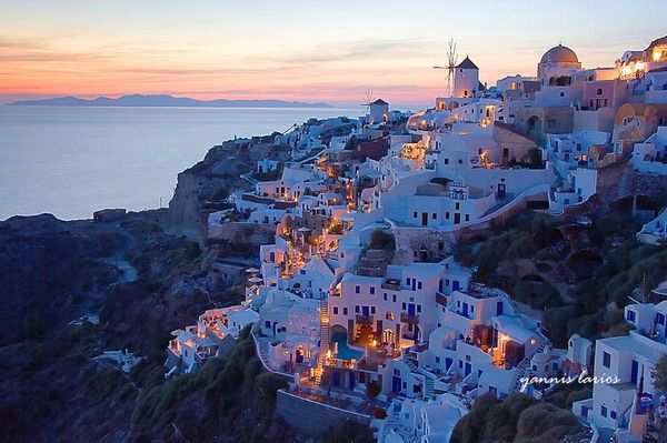 Santorini :]: Bucketlist, Buckets Lists, Santorini Greece, Favorite Places, Dreams Vacations, Night Lights, Sunsets, Places I D, Islands