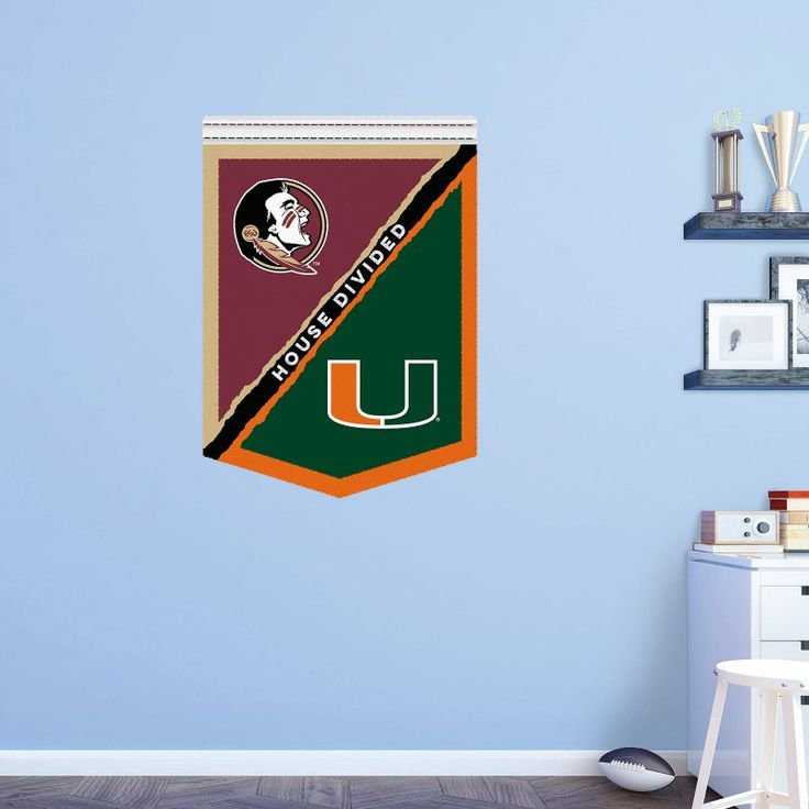 Fathead NCAA FSU - Miami House Divided Wall Decal - 61-61998