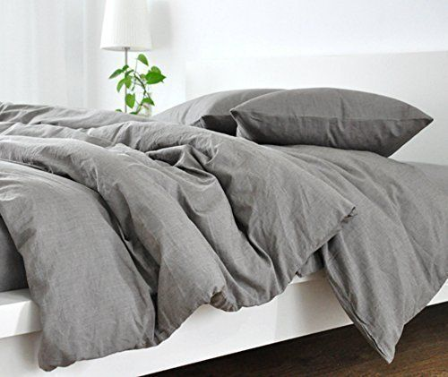 Handmade Medium Grey Duvet Cover, Grey Linen Duvet Cover, Grey Bedding, Custom Bedding, Linen Bedding, Queen Duvet Cover, King Duvet Cover, Twin Duvet Cover, FREE SHIPPING