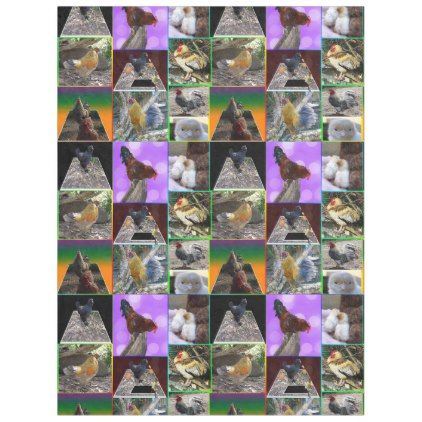 Chickens And Roosters Collage Lge Fleece Blanket - home decor design art diy cyo custom