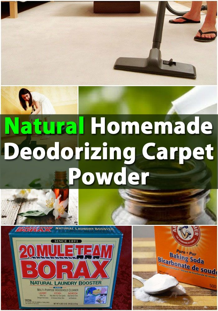 Natural Homemade Deodorizing Carpet Powder helps with fleas as well