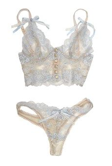Sweet Lingerie for the Big Day #MyPerfectWedding #BlueNile #stylemepretty