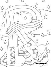 Cool Letter Coloring Pages!