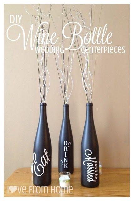 Wine bottle table arrangements | Wine Bottle Centerpieces - $25 http://www.etsy.com/listing/150333827 ...
