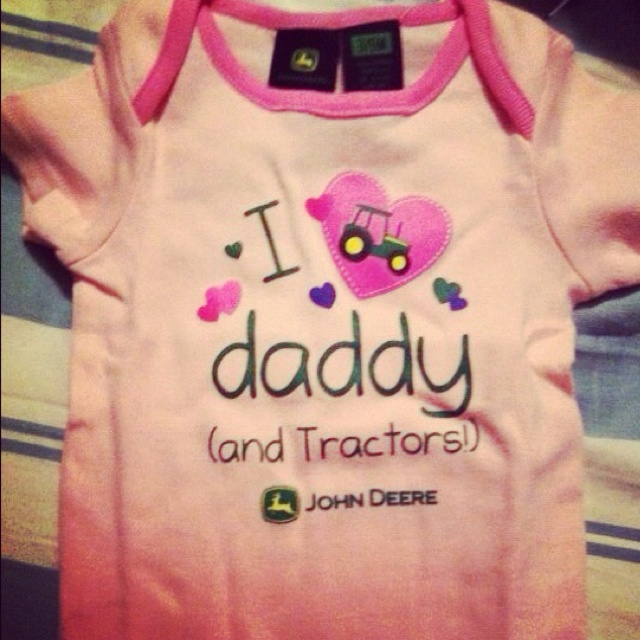 John deere baby shirt.  If we ever have a girl!