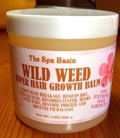 Wild Weed Conditioning Hair Balm will soften and moisturize the kinks out of your hair. Contains cones.
