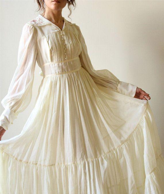 vintage boho gunne sax wedding dress