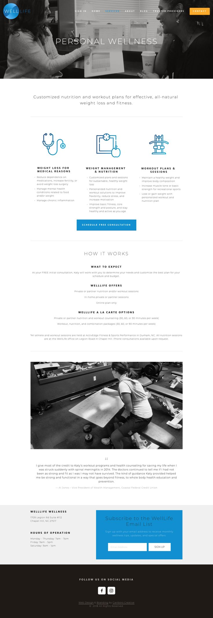Squarespace web design, website design, branding, wellness