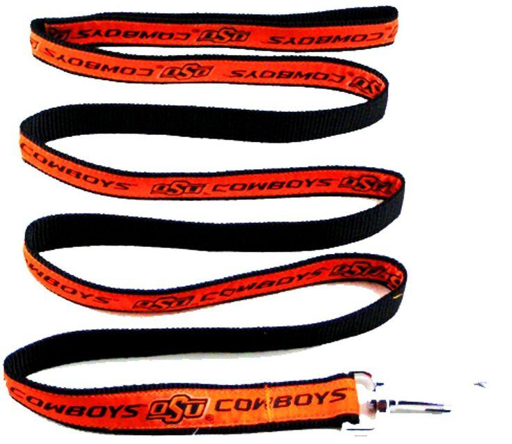 Oklahoma State Cowboys NCAA Ribbon Dog Leash Oklahoma