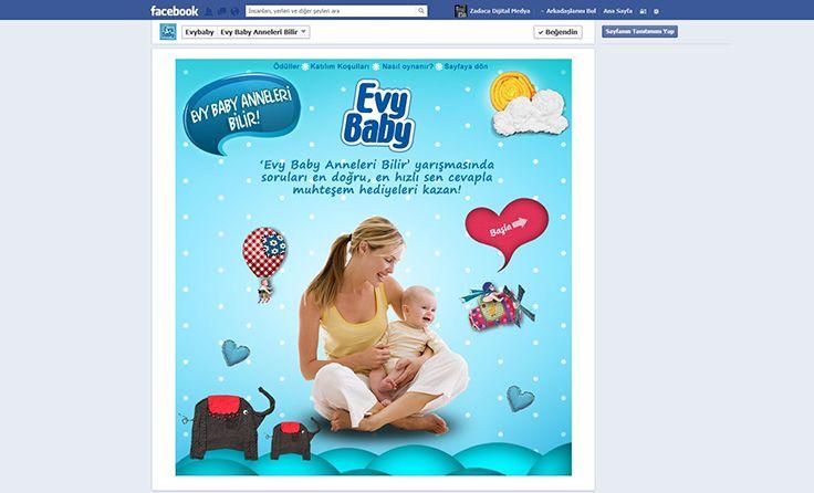 Bebek ve çocuk bakımı, beslenme, temel sağlık ve bakım bilgisi gibi konuları içeren sorularıyla Evy Baby annelerini tatlı bir rekabet ile doğru cevaplar peşinde koşturan, öğretici içeriği ile pratik bilgiler sunan Facebook yarışmamızı, bebek adımları ile yayına açtık.