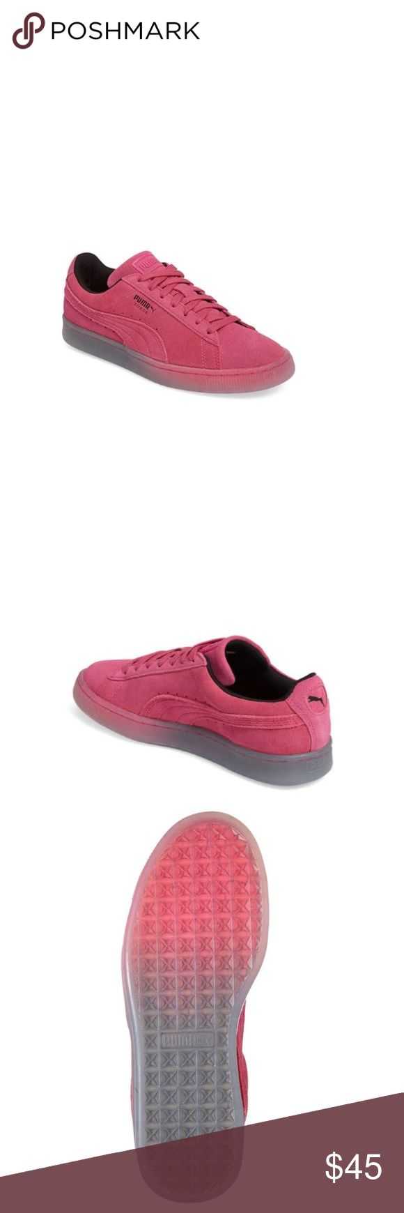 NEW ARRIVAL 💗Big kid sizes leather authentic Puma Great leather, durable and beautiful sneaker. See sizing conversion chart for girls to women's: 4.5 -36 (6); 5-37 (7); 6- 38 (8). No trades. Puma Shoes Sneakers