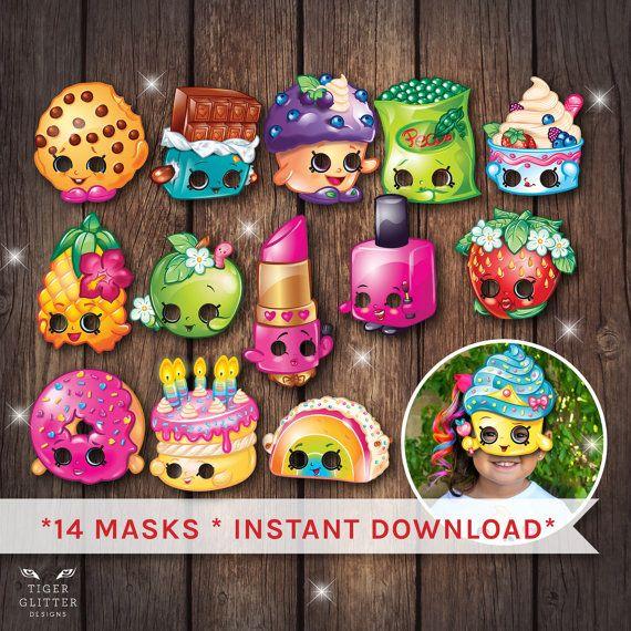 Shopkins masks Shopkins party Shopkins par TigerGlitterDesigns