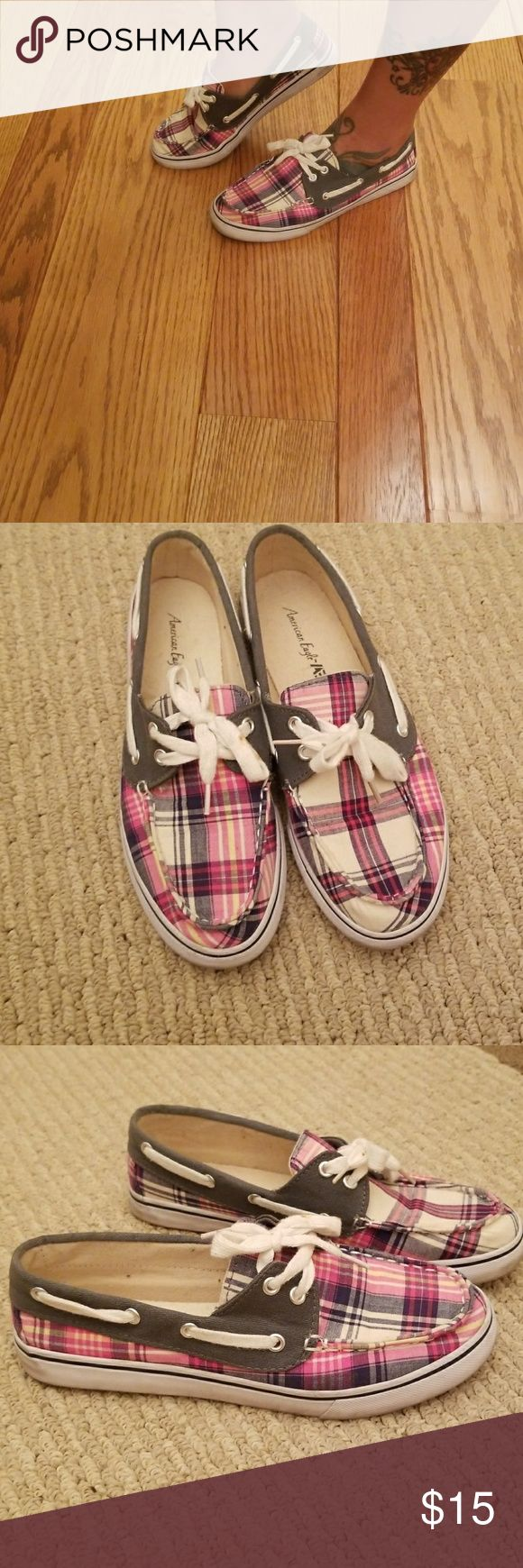 Boat shoes Pink, gray and beige American Eagle boat shoes american eagle Shoes Flats & Loafers