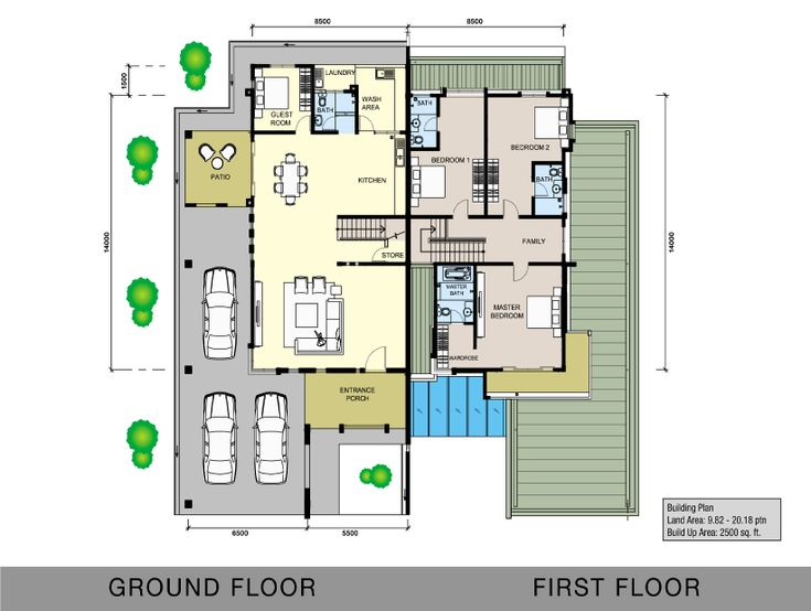 Grace avenue miri double storey semid floor 821 for Malaysia house plan