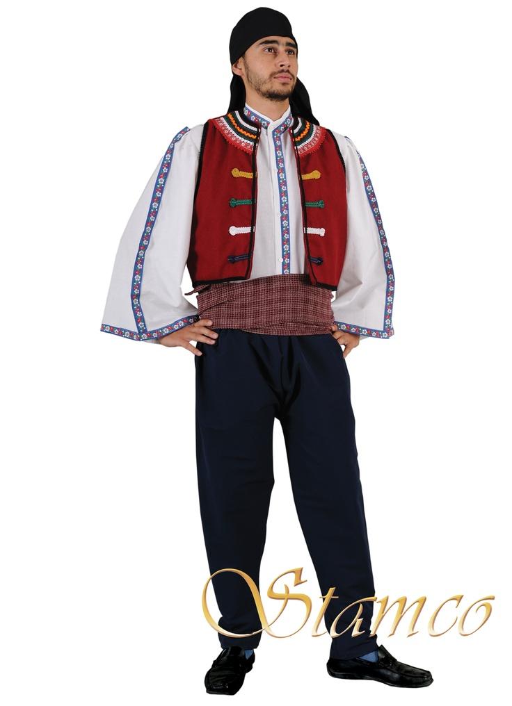 Costume shop version of Thracian man costume.
