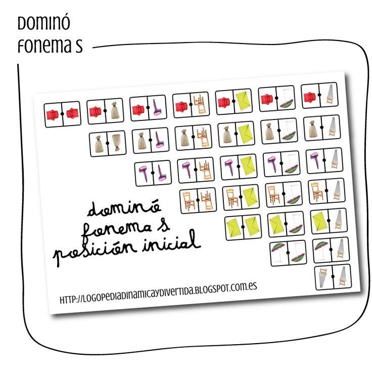 Logopedia dinámica y divertida : dominó fonema S posición inicial