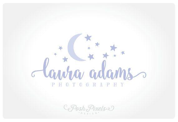 Logo Design Premade lune Logo Logo de l'étoile par PoshPixelsShop