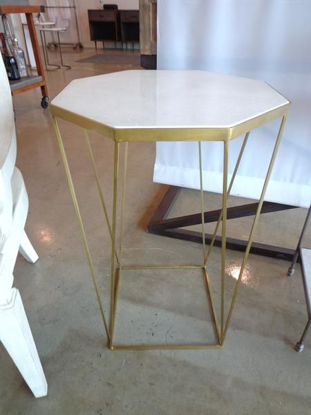 Side Table #SIDETABLE #table #marble #gold #galeriem