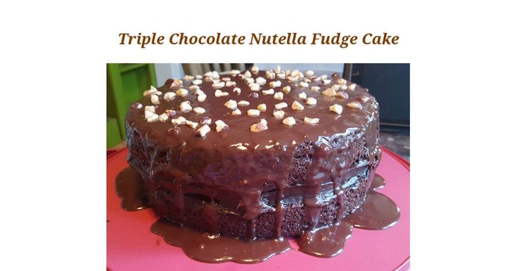 Triple Chocolate Nutella Fudge Cake    The Cake Mix  1(15.25 ounce) package Betty Crocker Super Moist Devil's Food Cake Mix 1(3.9 ounce) box Jello Chocolate Instant Pudding & Pie Filling 1 cup  Simple Truth Organic Cultured Sour Cream 1⁄2 cup  Water 1⁄2 cup Vegetable 0il 4 Simple Truth Organic C...