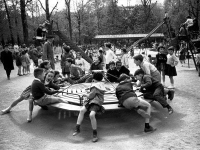 Merry-go-round-in-a-playground