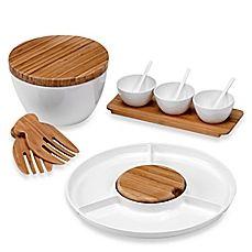 image of Bamboo/Melamine Serveware