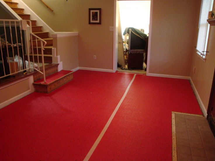 23 best Rooms with red floors images on Pinterest Red floor