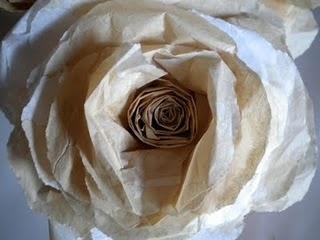 coffee and cream tissue paper rose