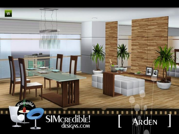 A Classy Modern Dining Room For Your Sims By SIMcredibledesigns Found In