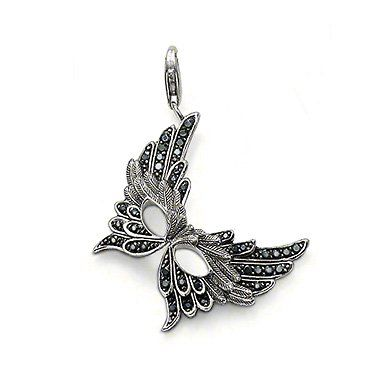 Wholesale Hot fashion 925 sterling silver / new 925 silver mask pendant charm Super price ! Free Shipping TS660-in Charms from Jewelry on Al...US $7.99