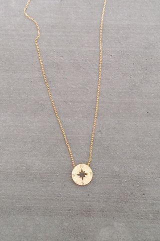 "Dainty Compass ""I would be lost without you"" necklaces."