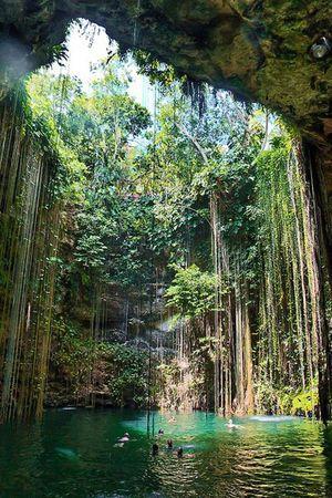 まるで物語の世界!木の根が神秘的なセノーテ・イキル。カンクン旅行の観光スポットまとめ。