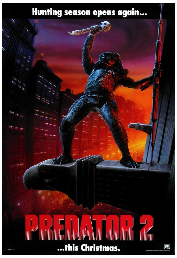 predator 2 1990 poster predator pinterest danny