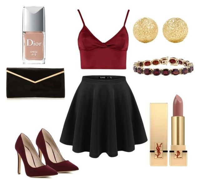 """""""Untitled #9"""" by terka-zelenkova on Polyvore featuring Lipsy, Carolina Bucci, Yves Saint Laurent and Christian Dior"""