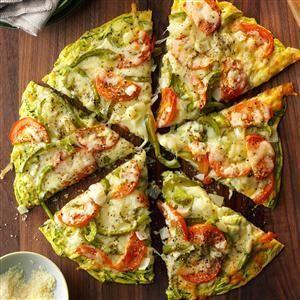 Zucchini Crust Pizza Recipe from Taste of Home