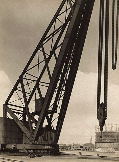 Albert Renger-Patzsch. 'Harbour with crane' c.1927