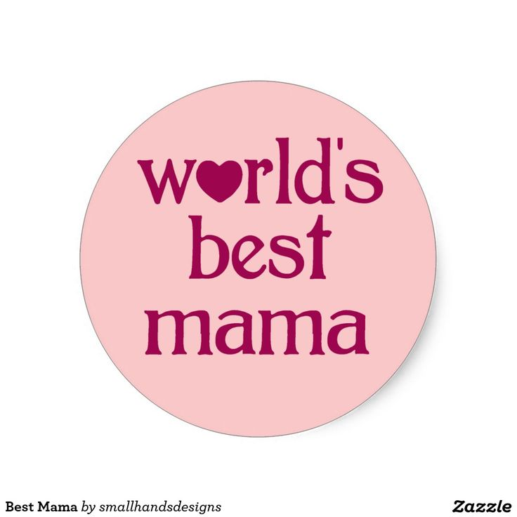 Beste Mamma's Ronde Stickers