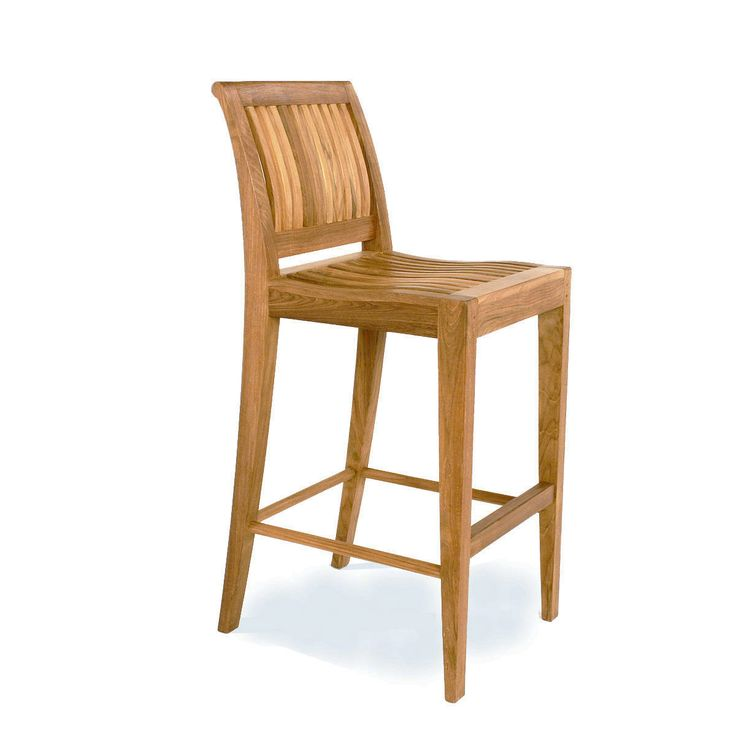 Laguna Armless Teak Outdoor Bar Stool - Westminster Teak Outdoor Furniture