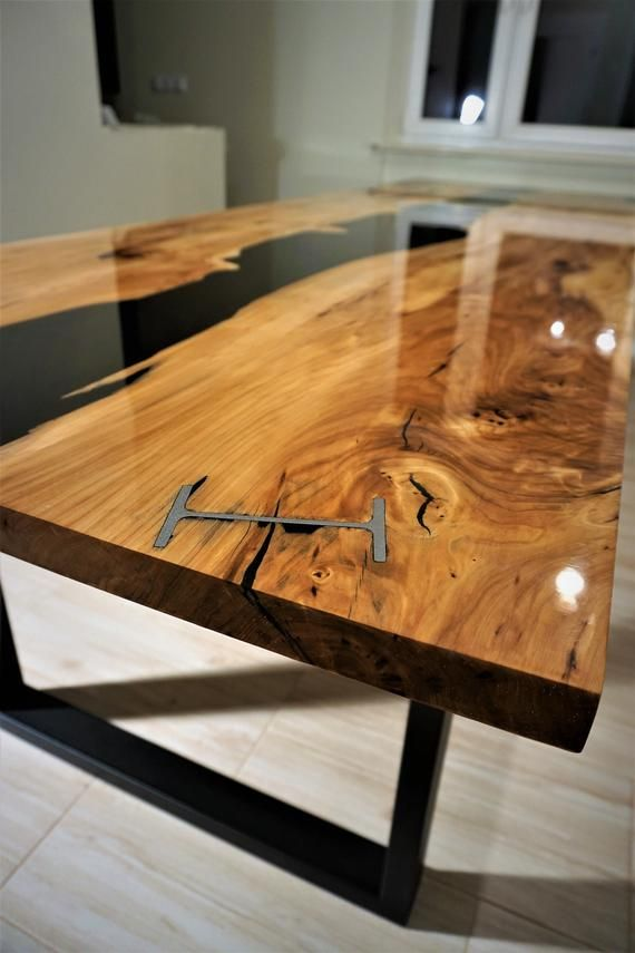 Large Black River Table Made To Order Wood Table Design Table