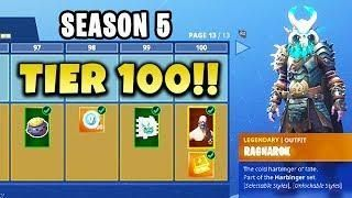 All 100 Tiers Season 5 Battle Pass Skins Released Fortnite