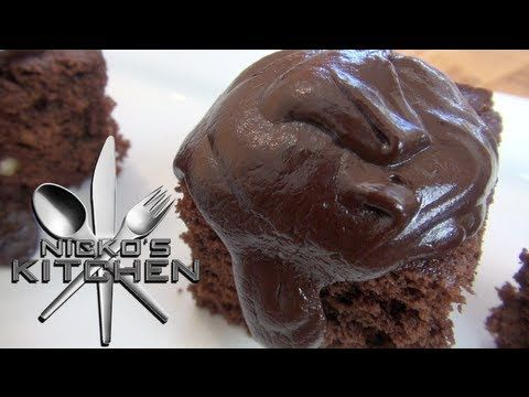 CHOCOLATE FUDGE CAKE (10 minute recipe) - Nicko's Kitchen - YouTube